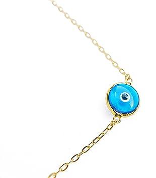 Spiritual Amethyst evil eye necklace nazar pendant Mini Sterling Silver Evil Eye Protection Pendant 925 Amethyst  Rainbow Moonstone