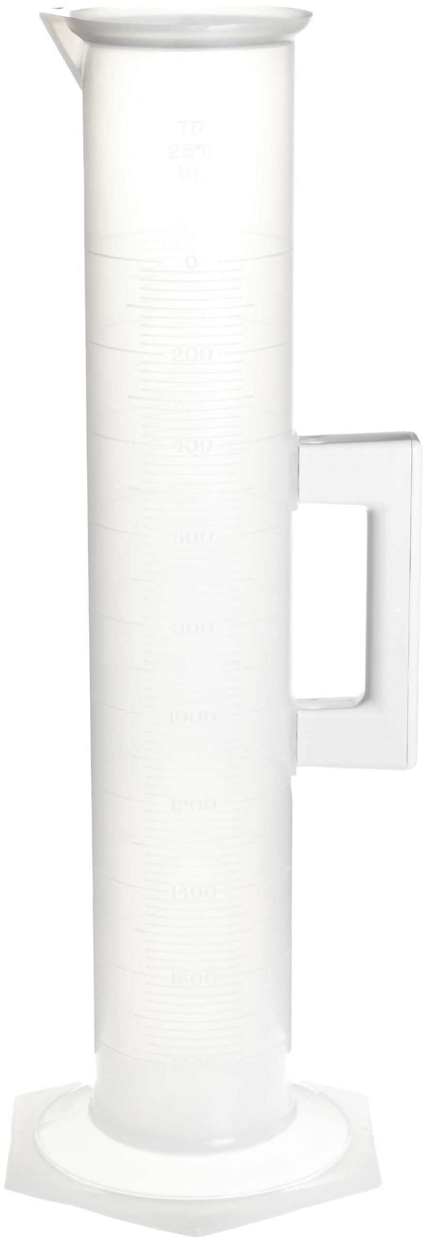 Bel-Art Holdfast 2000ml Polypropylene Graduated Cylinder; 20ml Graduation (F28461-2000)