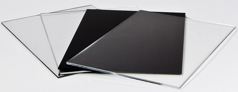 Acryl-Zuschnitt//Plexiglas-Platte schwarz 45 x 45 cm 3mm XT