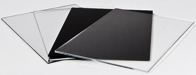 3mm XT Acryl-Zuschnitt//Plexiglas-Platte schwarz 70 x 50 cm