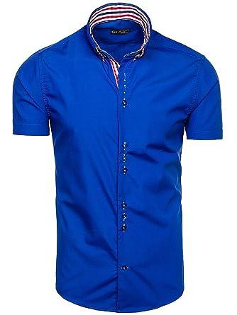 BOLF Herren Hemd Casual Kurzarm Slim Fit Freizeithemd 2B2 Mix  Amazon.de   Bekleidung aab9ce931c