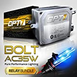 Bolt AC 35w HID Kit - All Bulb Sizes and Colors - Relay Capacitor Bundle - 2 Yr Warranty [9005 - 10000K Deep Blue]