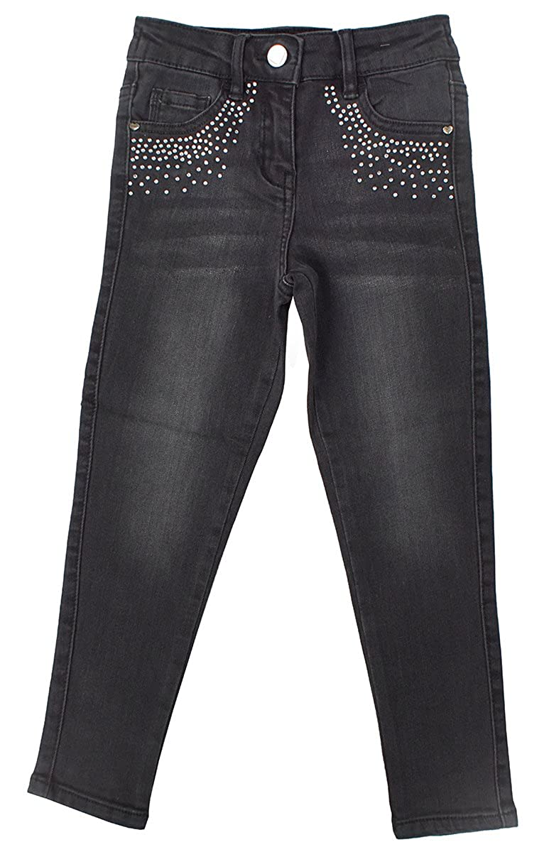 Get Wivvit Girls Jeans Black Fade Wash Denim Gem Stud Pocket Slim Leg Sizes from 4 to 14 Years