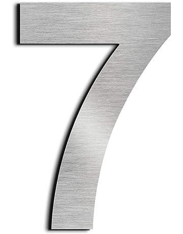 nanly Número de casa moderna-15.3Centímetros/6 pulgadas-Acero inoxidable, Apariencia