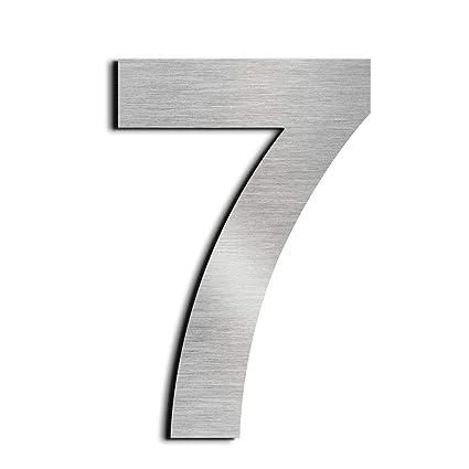 nanly Número de casa moderna-15.3Centímetros/6 pulgadas-Acero inoxidable, Apariencia flotante, Fácil de instalar y hecho de acero inoxidable sólido ...