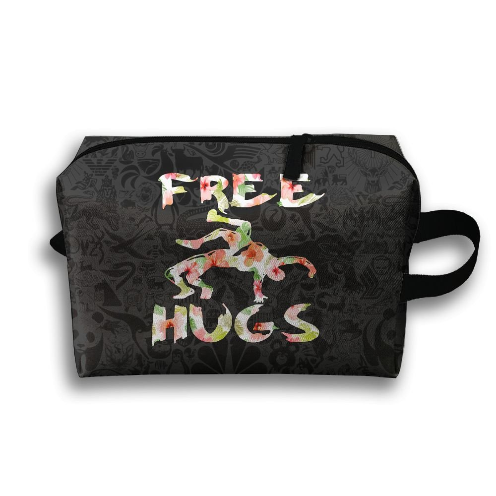 Free Hugs Youth Wrestling Gift Flower Toiletry Travel Bag Shaving Bag Sturdy Hanging Organizer Unisex