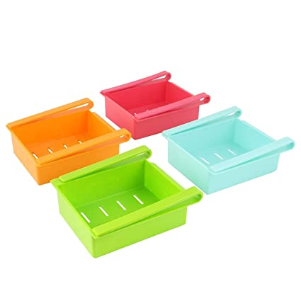 Palak Plastic Fridge Storage Set, Set of 2, Multicolor