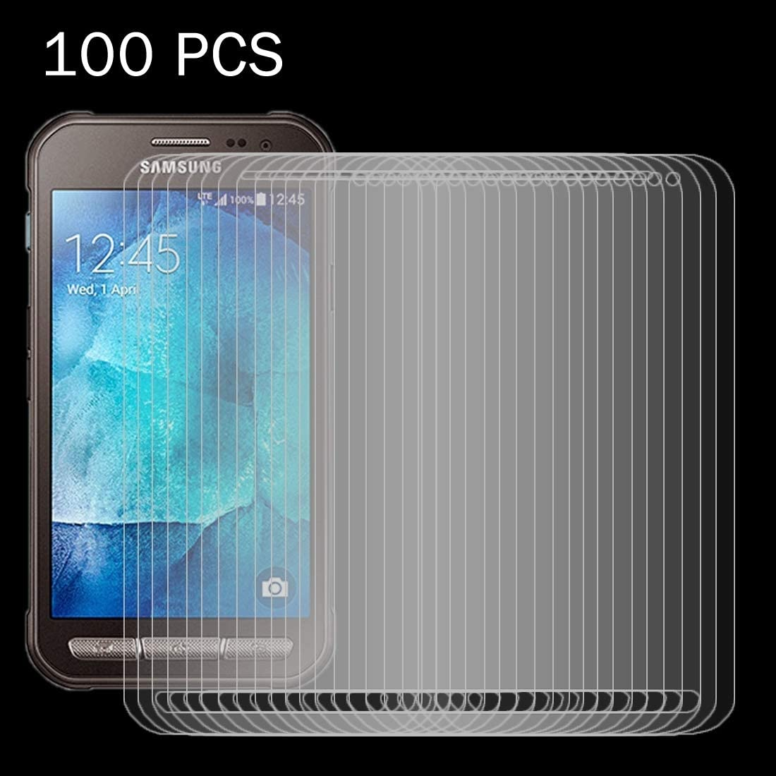 HUFAN 100 PCS for Galaxy Xcover 3 Surface Hardness 2.5D Explosion-Proof Tempered Glass Screen Film Phone Glass Film G388F 0.26mm 9H