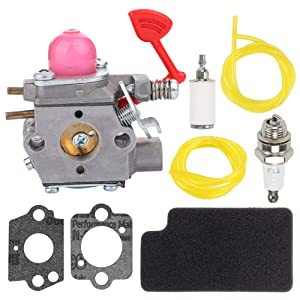 Fuel Li WT-875A Carburetor with Air Fuel Filter for Poulan BVM200C P200C Gas Powered Blower Craftsman 358794741 358794730 358794731 358794732 Blower 545081855 545116801