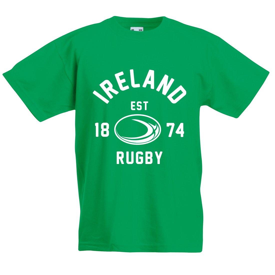 Kids Irlanda Balón de Rugby camiseta de manga corta, Verde, XX-L ...