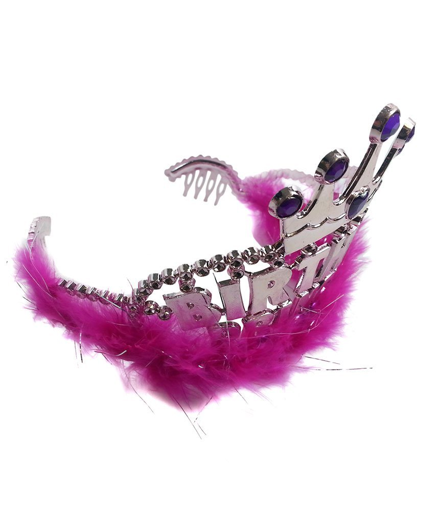 Marabou Birthday Princess Pink Tiara Funny Party Hats am460 Birthday Princess Tiara