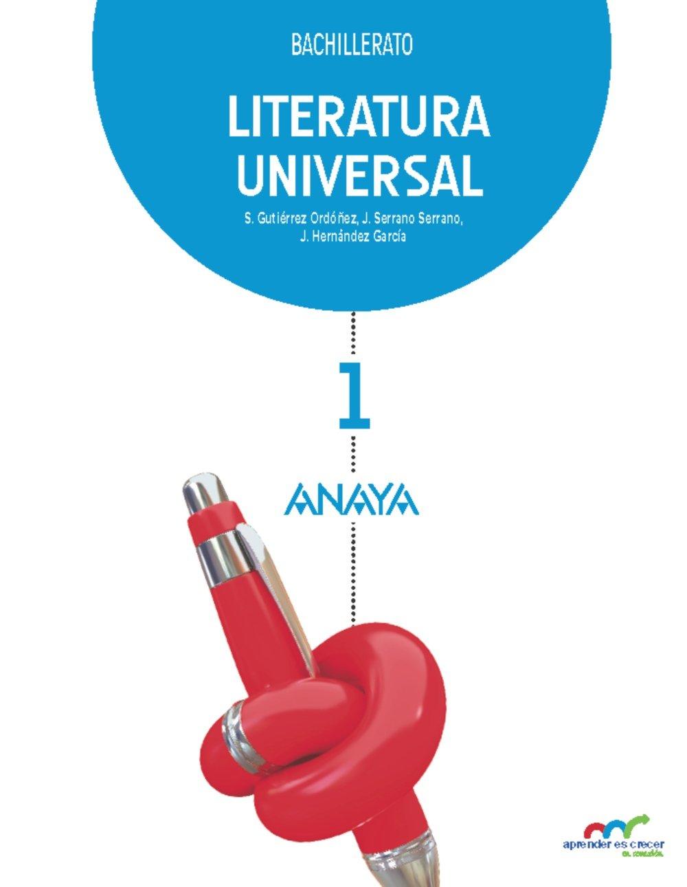 Literatura Universal 1. Aprender es crecer en conexión - 9788467831221: Amazon.es: Gutiérrez Ordóñez, Salvador, Serrano Serrano, Joaquín, Hernández García, Jesús: Libros