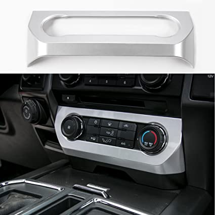 Central Console Air Conditioner Adjust Switch Cover Silver For Ford F150 2015