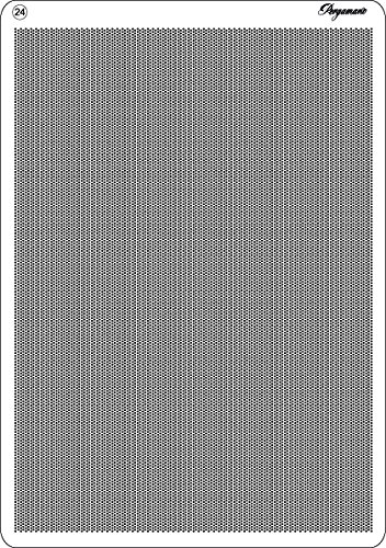 Pergamano Diagonal Fine Multi Grid 24 for Embossing and Perforating, Grey Craftlines BV PG31434