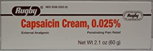 Rugby Capsaicin 0.025% Generic for Cream 2.1 Oz. (60gm) Pack of 4