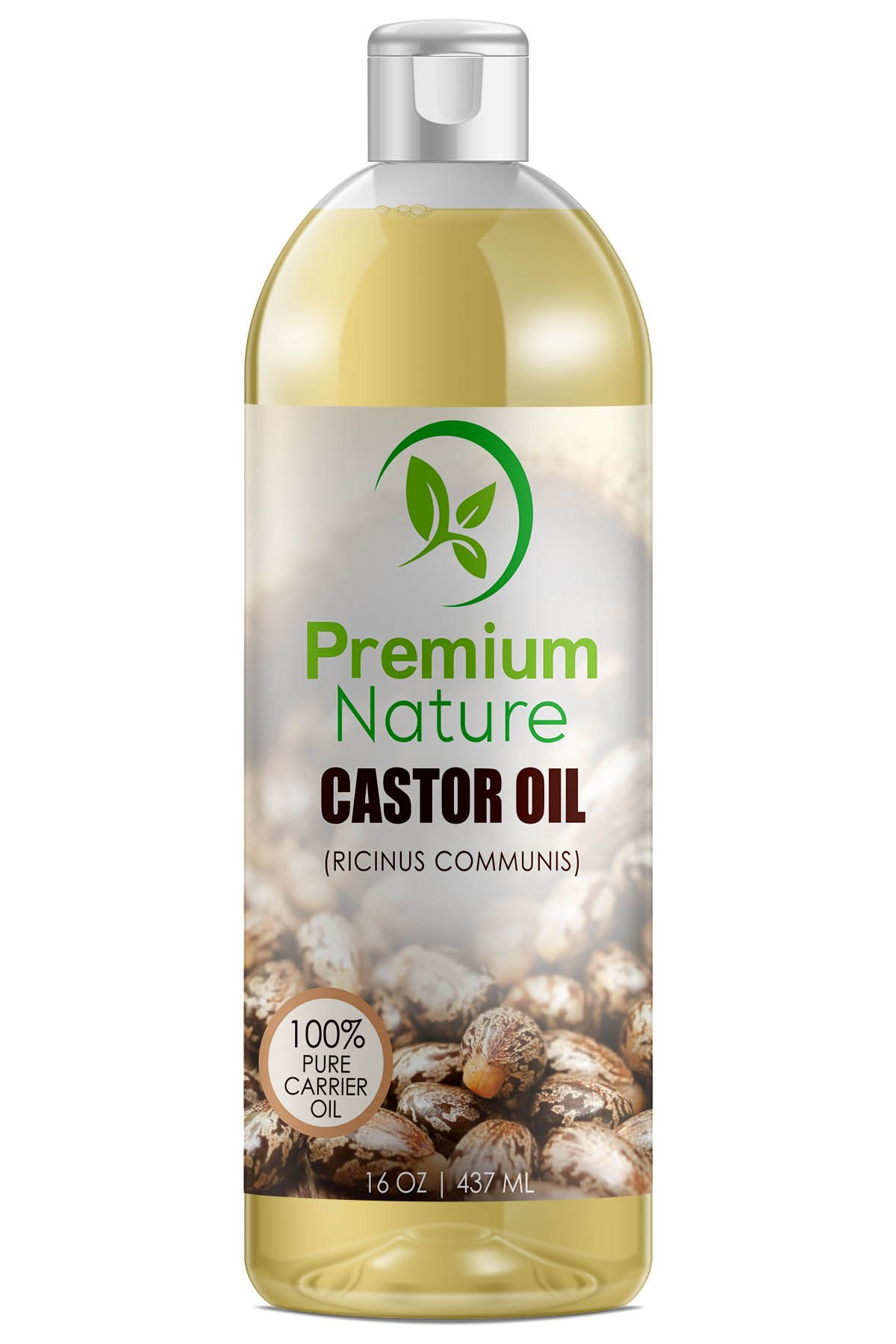 Castor Oil Best Carrier Oil - 16 oz Pure Organic Moisturizer for Skin Hair - Eyelashes & Hair Growth Conditions Hair Heals Inflamed Skin Nourishes & Moisturizes - enough Fades Blemishes Premium Nature