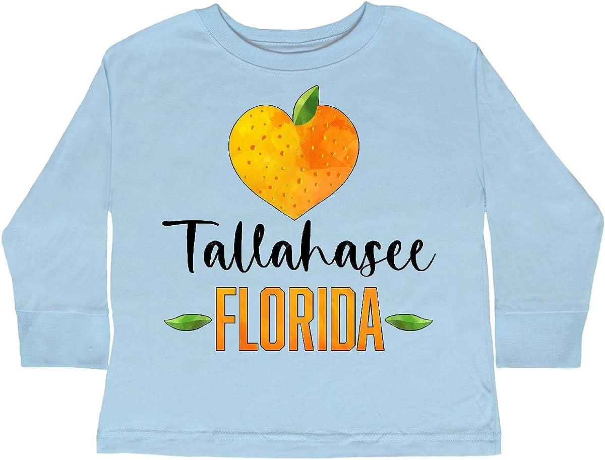 inktastic Tallahassee Florida Orange in Heart Toddler Long Sleeve T-Shirt