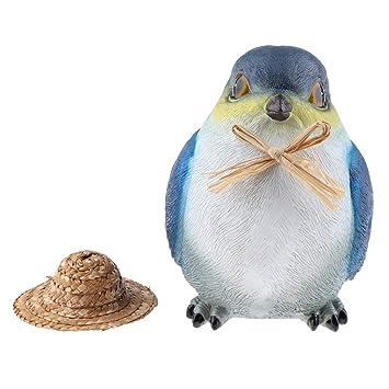 Amazon.es: B Blesiya Estatuilla de Pájaros Estatua con Sombrero ...