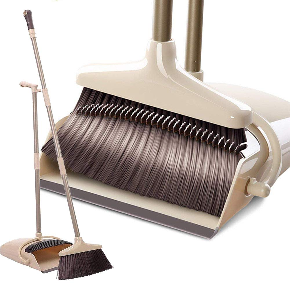 YONILL Broom and Dustpan Set, 48