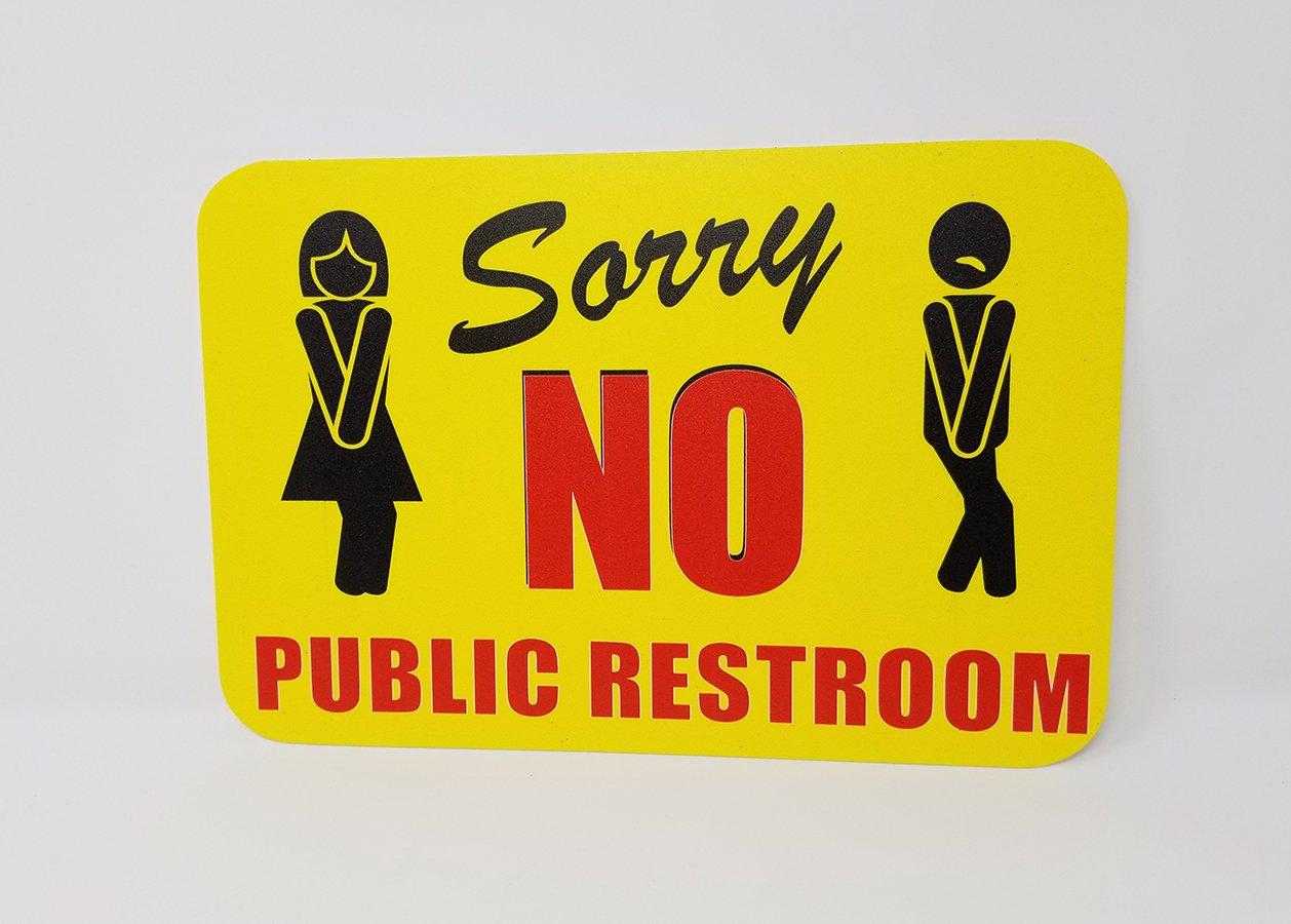 Amazon.com: Lo Siento No hay baño público | Cuarto de baño ...