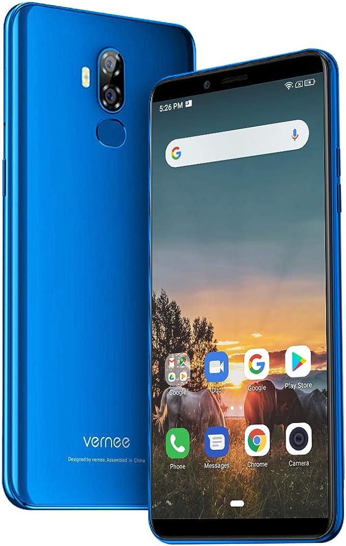 Vernee X2 Teléfono Móvil Gran Batería 6350mAh Libre Dual SIM 3GB RAM 32GB ROM Dual Cámara Trasera 13MP+5MP Android 9 4G 6 Pulgadas Procesador 4 Núcleos Desbloqueo Huellas Identificación Facial: Amazon.es: Electrónica