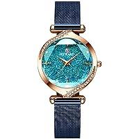 Shalwinn Reloj Mujer Diamante De ImitacióN Cielo Estrellado Reloj para Mujer Acero Inoxidable Impermeable Elegante Moda…