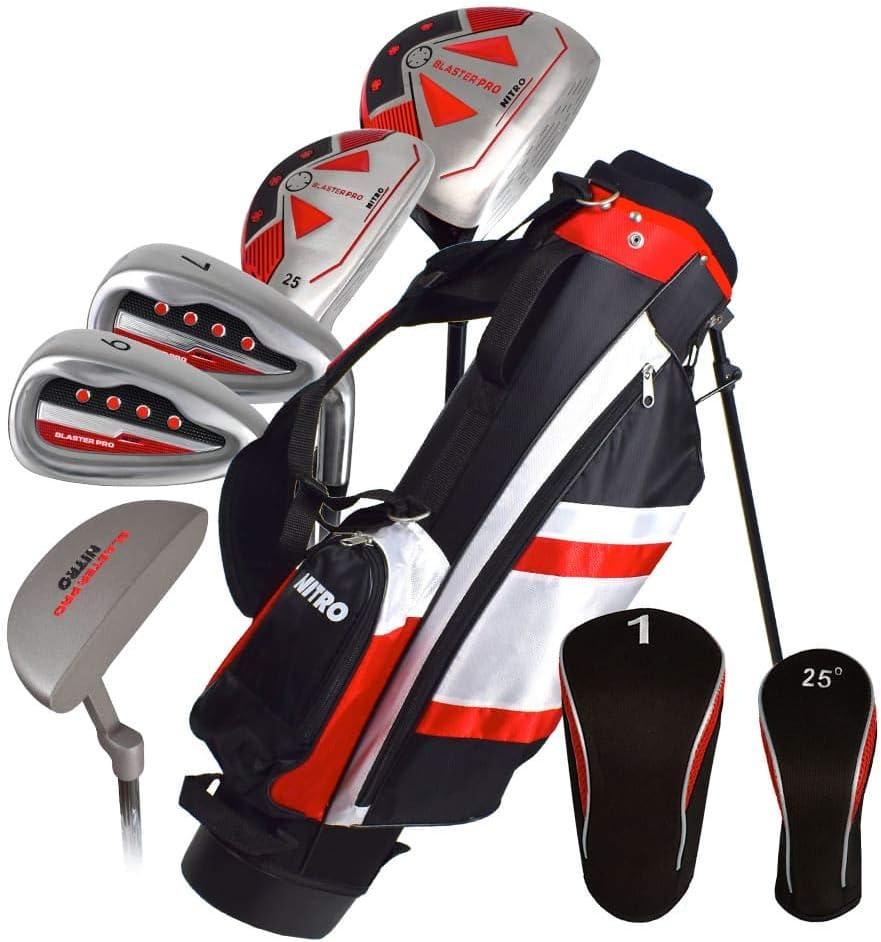 Nitro Blaster Golf Set Junior Pro 5-8 LH, Silver, Black
