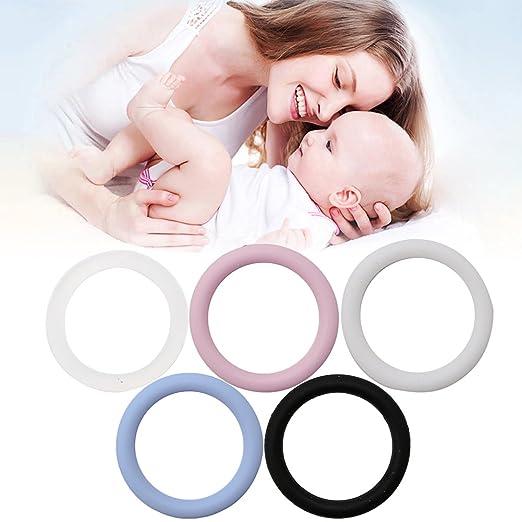 5 piezas de anillos de silicona para chupete Baby Dummy ...