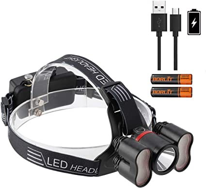 Waterproof LED Headlamp Headlight Flashlight Head Torch 18650 For Camping LJ
