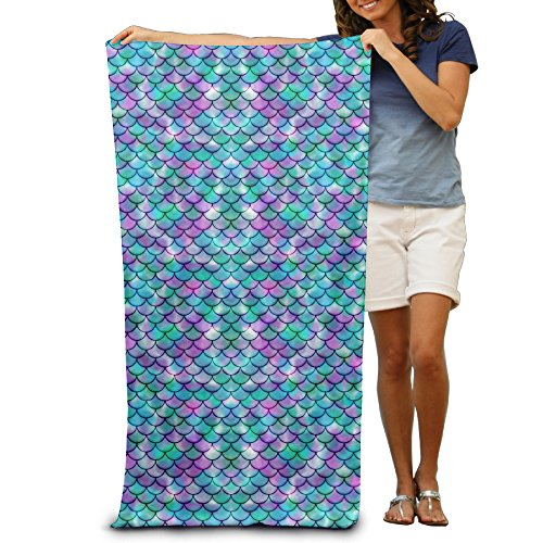 "Galactic Mermaid Tail Adults Cotton Beach Towel 31"" X 51"""