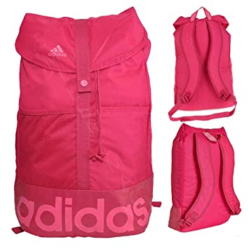 8613bbc83a6f Adidas Linear Backpack - Pink.  Amazon.co.uk  Luggage