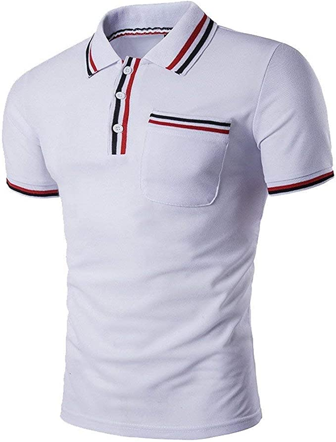 Camisa De Polo con Mangas Cortas Y Polos Corta Esencial Manga De ...