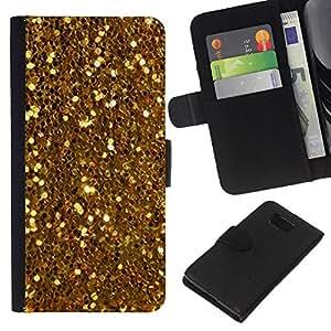 Brillantes Glitter Treasure Amarillo Monedas- la tarjeta de Crédito Slots PU Funda de cuero Monedero caso cubierta de piel Para Samsung ALPHA G850