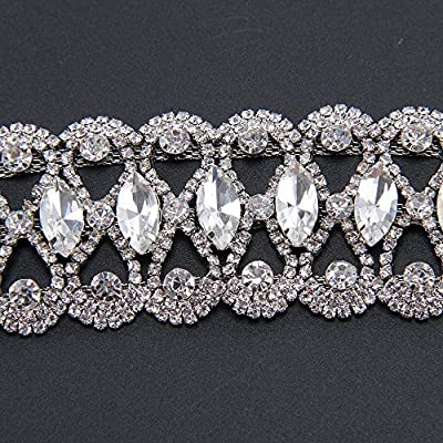 Gahrchian Diamond Bracelet Man Woman Wrist Cuff Bracelets for Women Girl Sister Mother Friends Teen Jewelry Gift (Sliver 1): Clothing