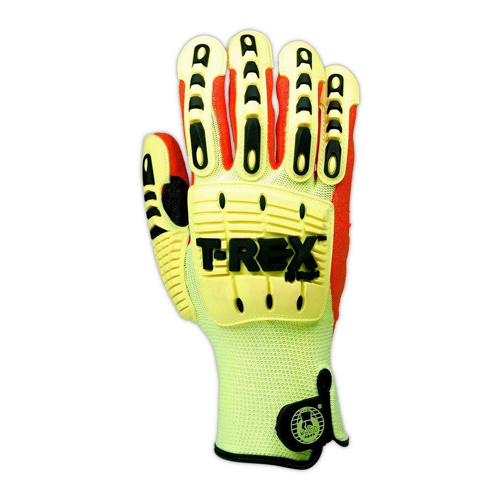 Magid Glove & Safety TRX540-XXXXL Magid T-REX TRX540 Impact Gloves - Cut Level A5, 8, Hi/Vis Yellow, 4XL by Magid Glove & Safety (Image #2)