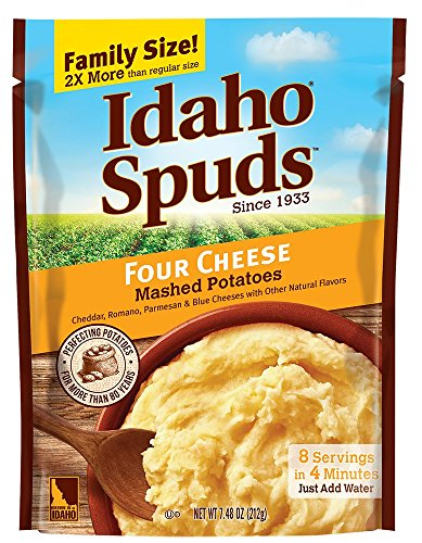 Idaho Spuds Family Size, Four Cheese Mashed Potatoes, 6 Count ()