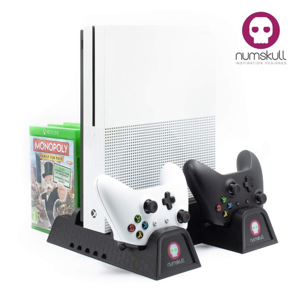 Charging Station - Xbox One Vertical Stand (All in One) Controller Charging Station, Cooling Fan, Game Holder and built in USB hub for for Xbox One Console