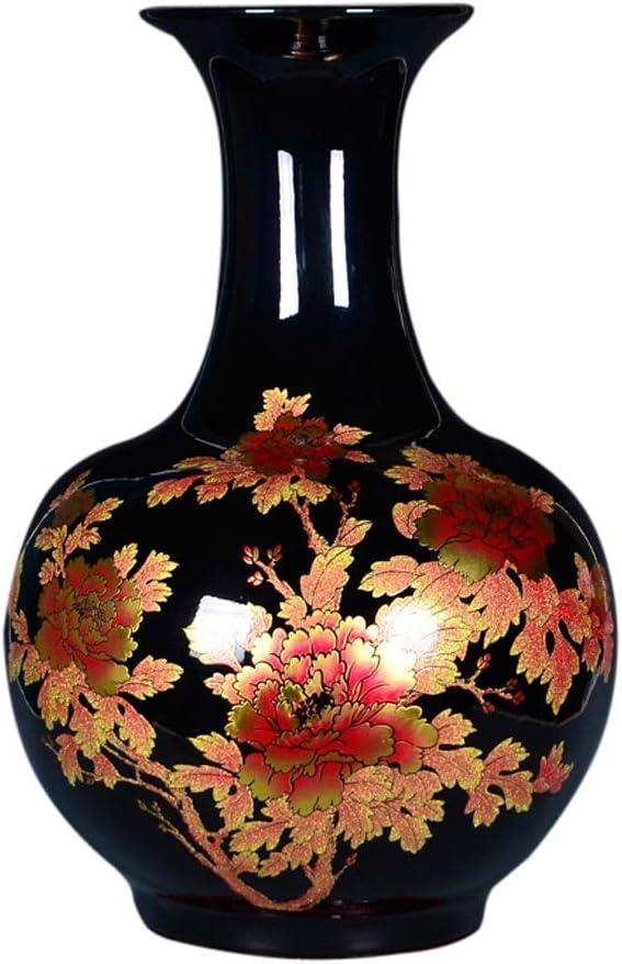 花器 装飾芸術ホーム世帯ウェディングリビングルームベッドルームオフィステーブルブラック37.5 X 57センチメートルための花瓶セラミック現代のハイグレード フラワーベース