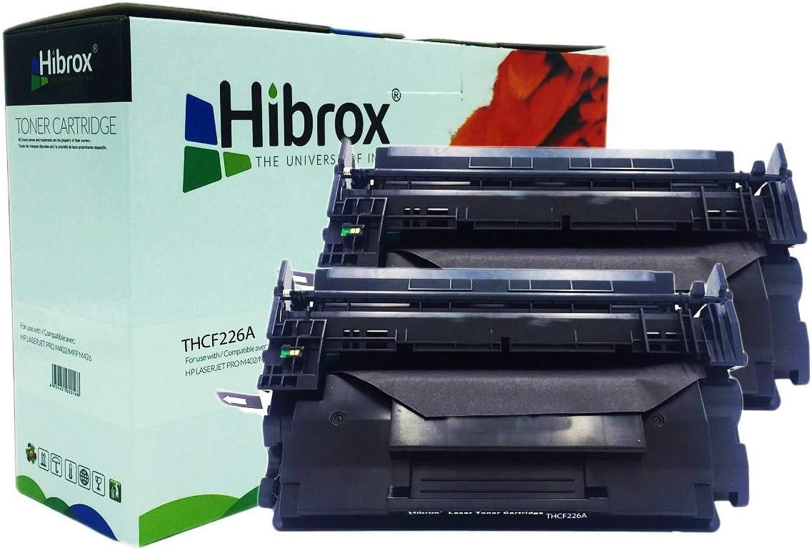 Pack 2Pcs Hibrox Toner Compatible HP CF226A 26A pour HP LASERJET ...
