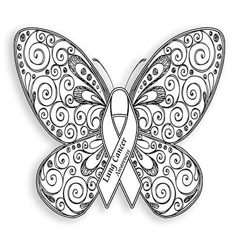 Lung Cancer Awareness Butterfly Magnet - Set of 2 - -