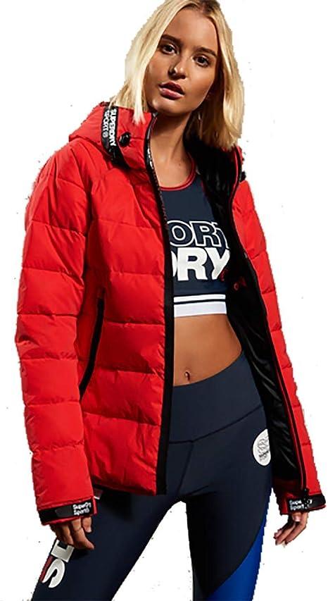 Superdry Damen Jacke, Rot X Large: : Bekleidung