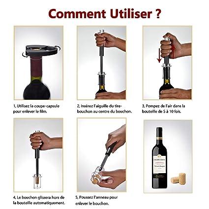 Aluminium Vin Ouvre Bouteille Pression D/'air tire-bouchon aiguille-Type cuisine bar Outils