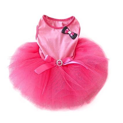 Buy Urparcel Pet Cat Princess Tutu Dress Bow Bubble Skirt Puppy