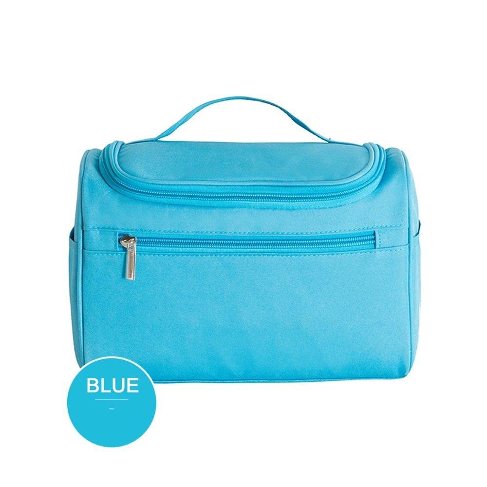 Toiletry bag CAICOLOR Portable Hanging Waterproof Travel Wash Bag Men Women Foldable Compact Size Portable Coat Hangers GIFT (Color : Blue)