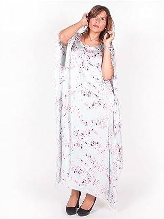 Vetement Femme Grande Taille Robe D Interieur Motif Vert Amazon Fr Vetements Et Accessoires