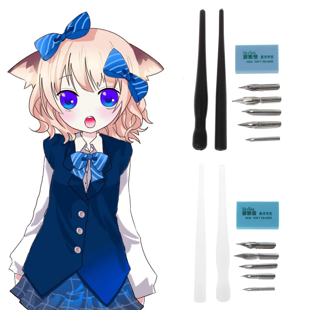 5 Pennini BK Lamdoo Parallel Pen Calligrafia Manga Dip Penna Holder Set Disegno Comico Strumenti di Pittura Kit Calligrafia