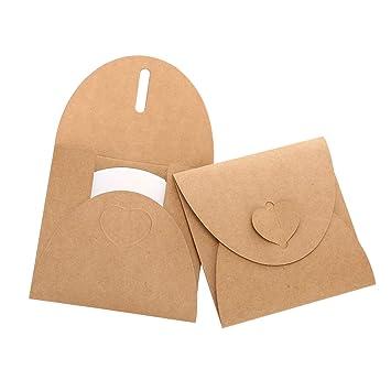 Siumir CD DVD Sobres de Cartón Bolsas de Papel Kraft Case Poseedor 13 x 13 cm / 1.5 x 1.5 inch, 30 pcs