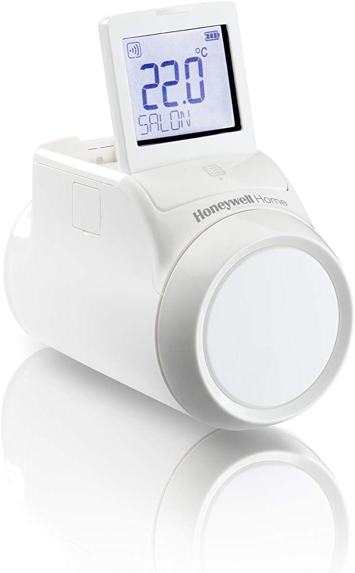 Honeywell Home THR092HRT Cabezal Termostático Radiador Wireless para Sistema Evohome, 1.5 V, Blanco