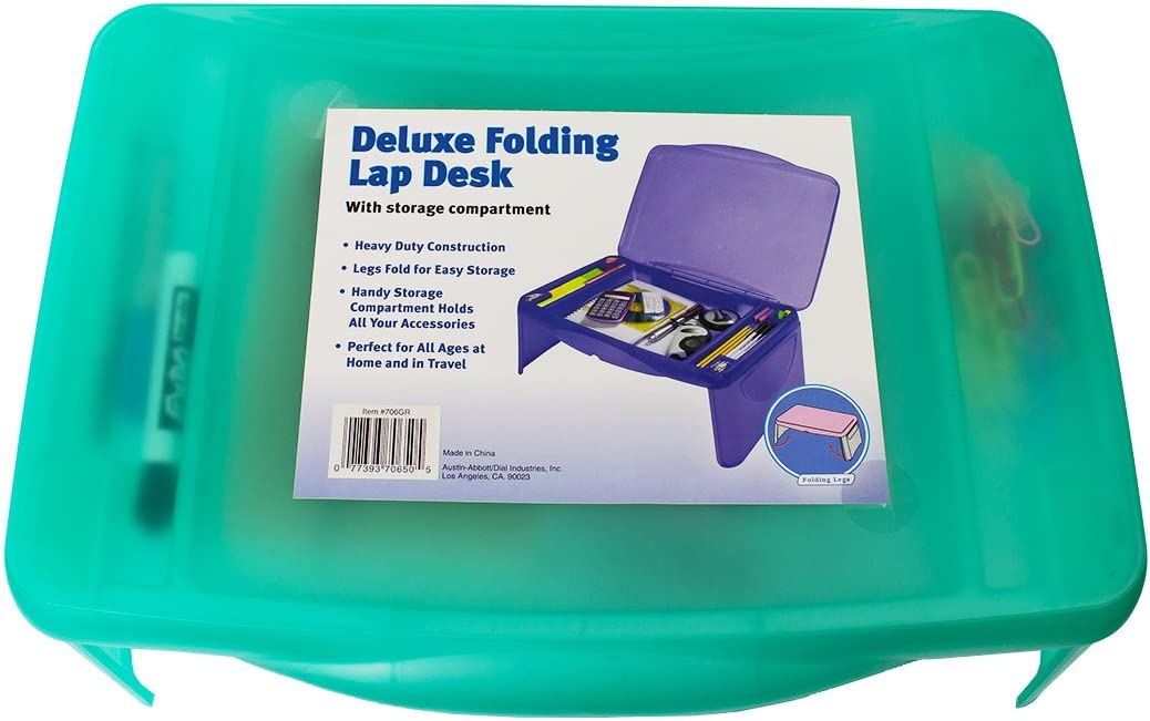 Deluxe Folding Lap Desk Tray Blue