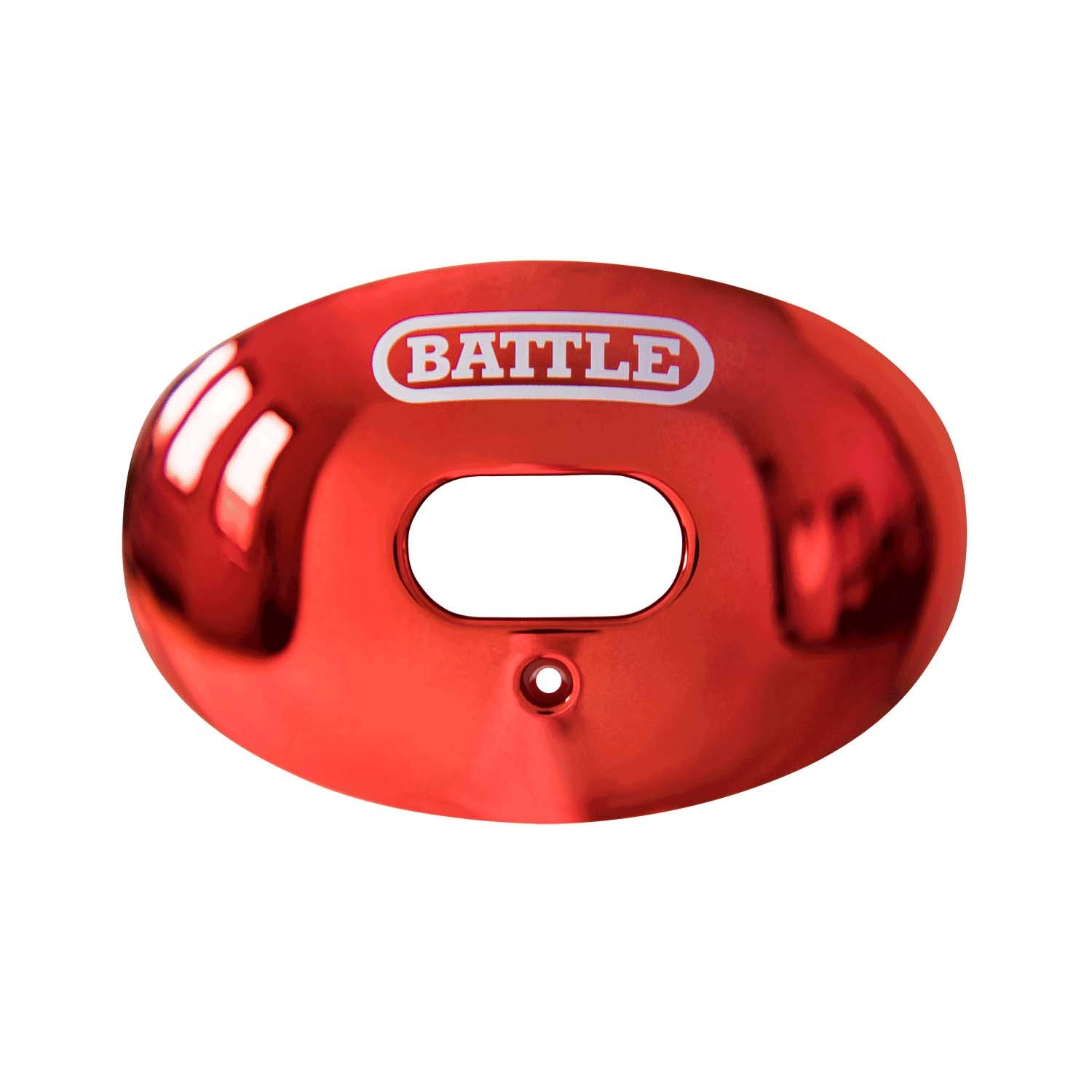 Battle Oxygen Lip Protector Mouthguard (Red Chrome, One Size)